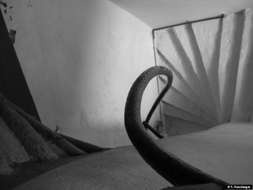 glissage, cage d'escalier