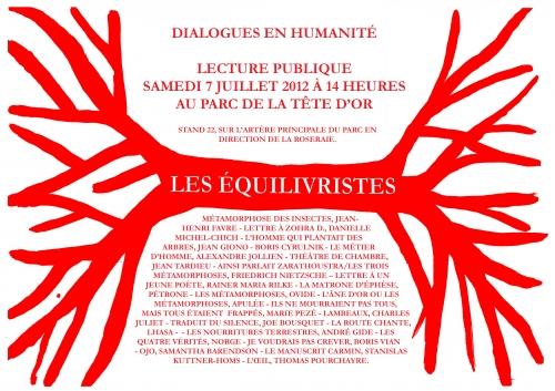 dialogues en humanité, résilience, équilivristes