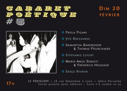 périscope, cabaret poétique #5